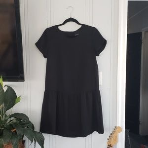 Cynthia Rowley black smock dress